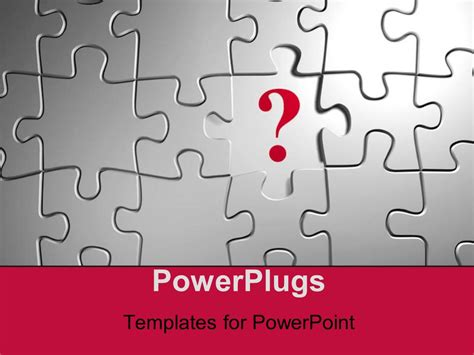 powerpoint templates question mark powerpoint template puzzle with a question mark on empty