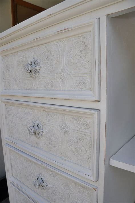 Wallpaper On Dresser by Textured Wallpaper On Furniture