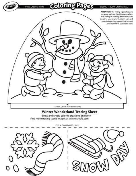 winter wonderland coloring pages coloring home winter wonderland crayola com au