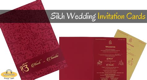 sikh wedding invitation cards sikh wedding 3 things to before ordering customized
