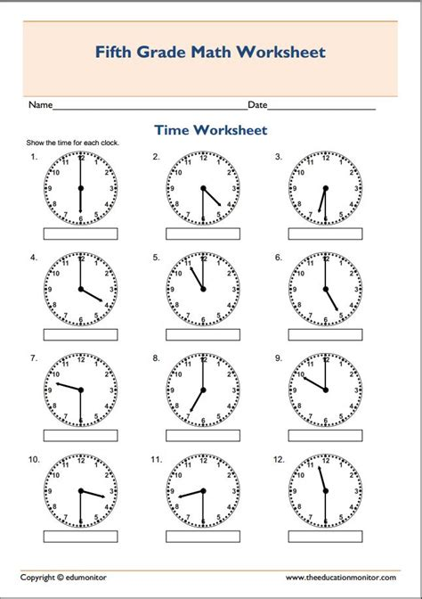 printable telling time sheets free free printable telling time worksheets edumonitor