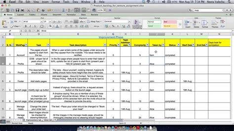 28 product backlog template excel agile planning tools