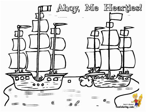 High Seas Pirate Ship Coloring Pages Pirate Ship Free Pirate Ship Coloring Pages