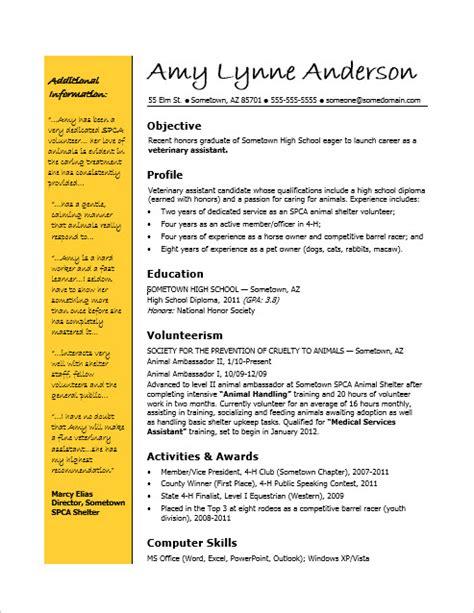 Resume Template Career Advice High School Grad Resume Sle