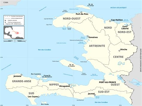 map of haiti fichier haiti departements map fr png wikip 233 dia