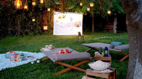 open air cinema ideas  romantic summer evening