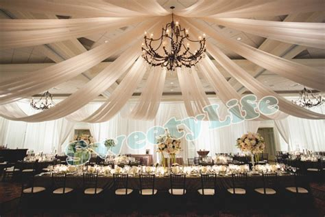 diy wedding draped ceiling wedding 10 pieces ceiling drape canopy drapery for