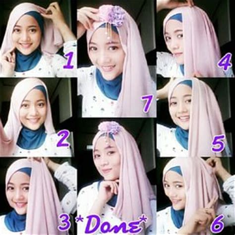 tutorial jilbab layer tutorial dan foto cara pakai hijab modern layer gaya