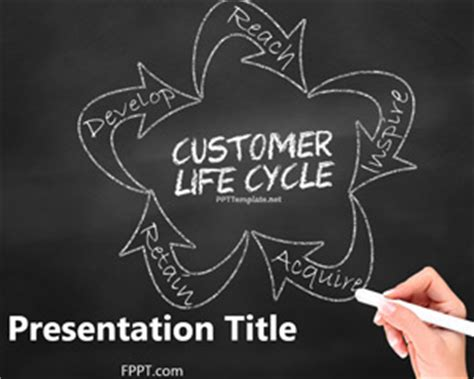 Free Chalkboard Customer Lifecycle Powerpoint Template Chalkboard Powerpoint Templates Free