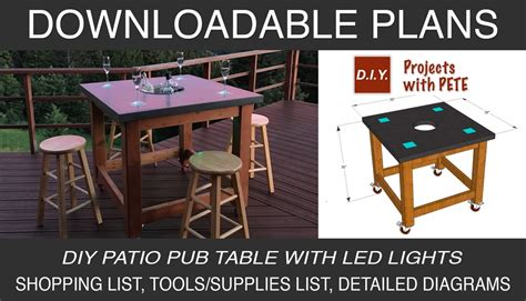 pub bench plans how to make a concrete pub table diy projects with pete