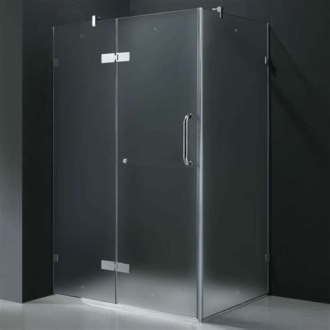 Frameless Shower Doors Prices Frameless Glass Vigo Frameless Frosted Glass Shower Enclosure 36 X 48 Special Price