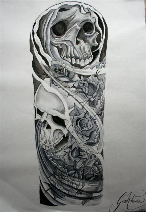 quarter sleeve tattoo sketches skull half sleeve tattoo drawings skull pinterest