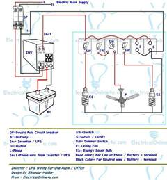 ups inverter wiring diagram for one room office electrical 4u