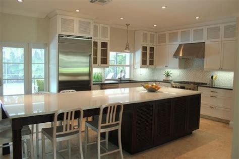 long kitchen island contemporary kitchen palmerston louvered cabinet doors home depot contemporary solid