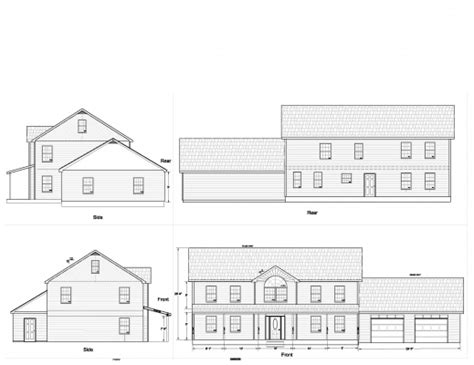 plans and elevations of houses floor plan and elevation of a house house floor plans