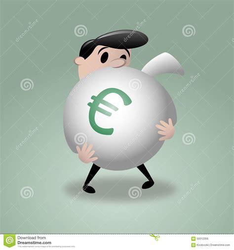 grand prize winner u002708 guys big money bag stock vector image 59312356