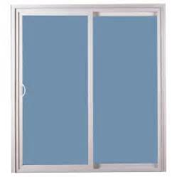 Vinyl Sliding Glass Doors Shop Reliabilt 311 Series 70 75 In Clear Glass White Vinyl Sliding Patio Door At Lowes