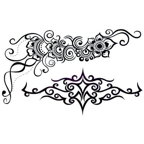 tattoo tribal fleur tatouage temporaire tribal et fleur