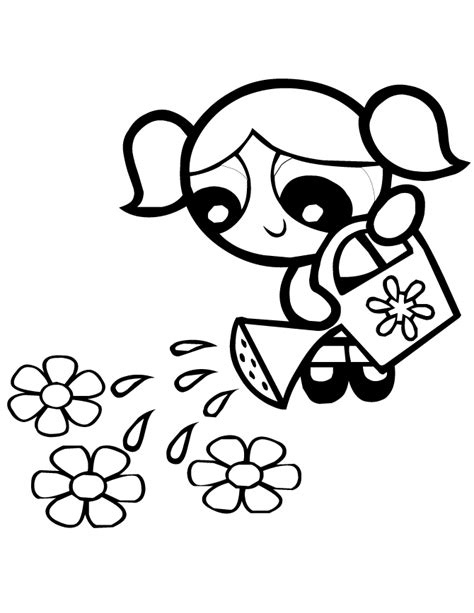 powerpuff girls coloring pages bubbles coloring home