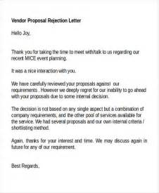 Rejection Letter Template For Vendor 8 Rejection Letter Templates 7 Free Word Pdf Format Free Premium