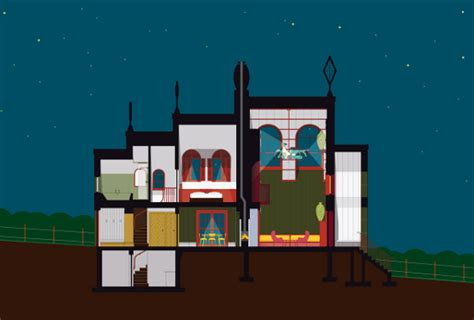 night section v a to stage architects as artists exhibition designcurial