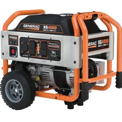 generac xg 3600 watt portable generator home depot