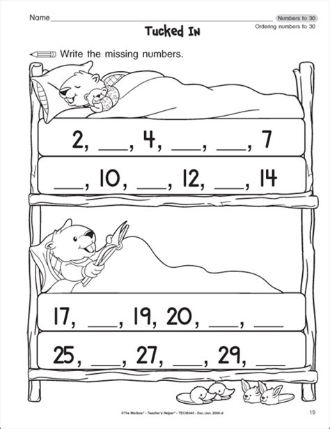 Work For Kindergarten Worksheets by The Mailbox