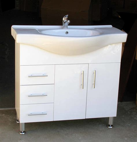 Metal Leg Bathroom Vanity Selene L900l 900mm Semi Recessed Vanity Unit With Left Drawers On Metal Legs Sydney