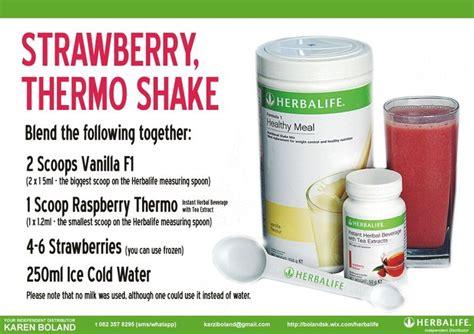 Herbalife Shake Strawberry strawberry thermo herbalife shake herbalife recipe cards