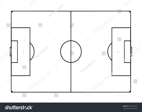 stock pitch template football pitch template stock illustration 314052458