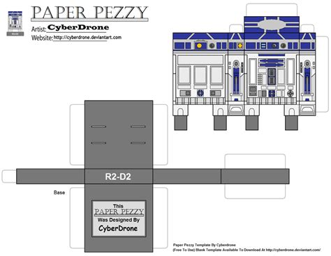 R2d2 Papercraft - paper pezzy r2 d2 by cyberdrone on deviantart