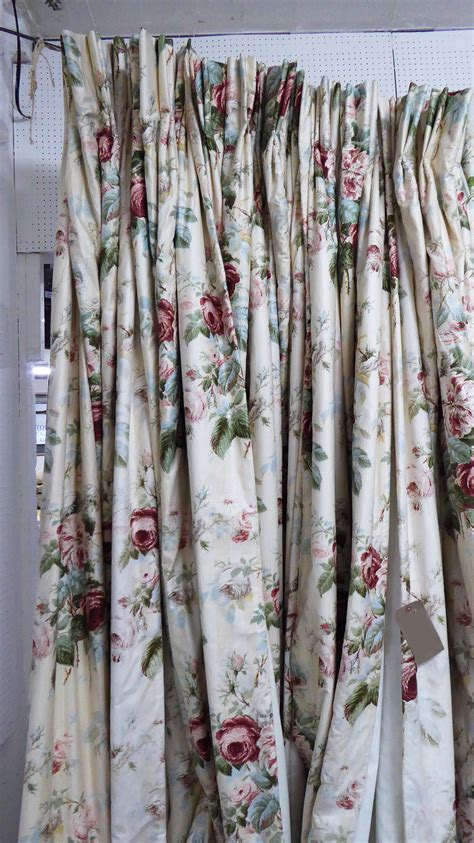 260cm drop curtains curtains three pairs lined and interlined colefax and
