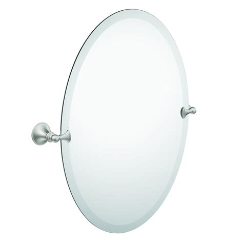 oval bathroom mirror bathroom mirror beveled edge oval tilting brushed nickel