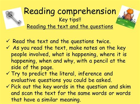 reading comprehension test strategies reading comprehension ppt download