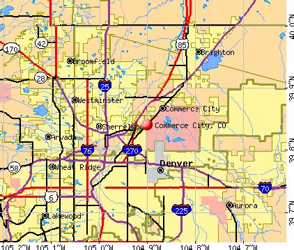 commerce city colorado co profile population maps