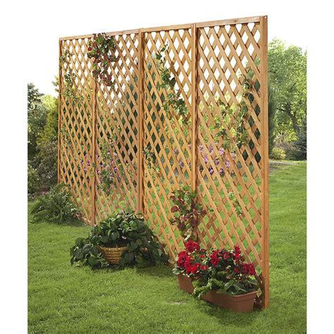 Wooden Garden Trellis Panels 2 Wooden Garden Fence Panels 131146 Patio Furniture At