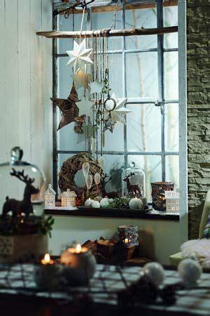 Weihnachtsdeko Landhausstil Fenster by Fensterdeko Chrismas Fensterdeko