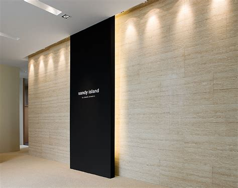 wall panels interior design delectable lighting minimalist interior of the sandy island gallery by claudio silvestrin
