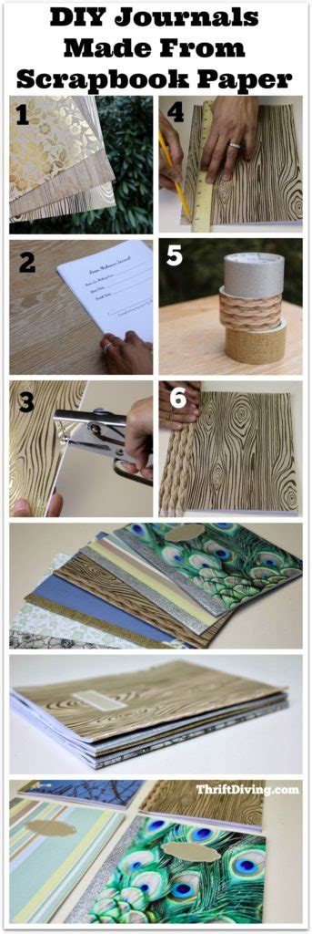How To Make A Journal Out Of Paper - how to make a diy journal notebook from scrapbook paper