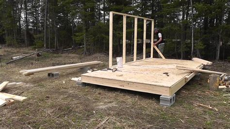 building a tent platform wall tent platform build youtube