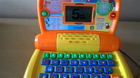 speelgoed computer vtech my laptop yellow preschool toy computer with abc and