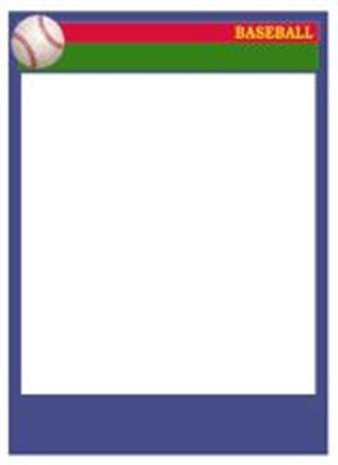 Sports Card Template Photoshop by Baseball Card Templates Free Blank Printable Customize