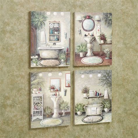 Bathroom Wall Art Ideas bathroom bliss wall art plaque set multi warm set of four