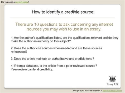 how to write sources for research paper credible sources essay