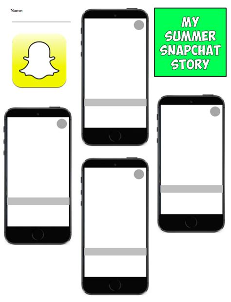 Snapchat Story Template