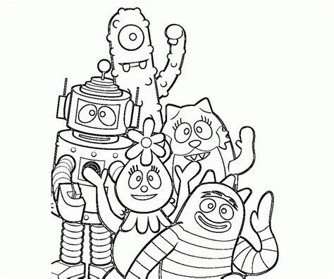 printable coloring pages yo gabba gabba yo gabba gabba coloring pages free coloring home