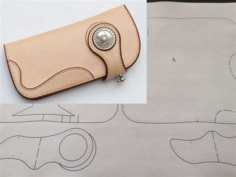 leather wallet templates leather craft patterns diy designs wallet paper