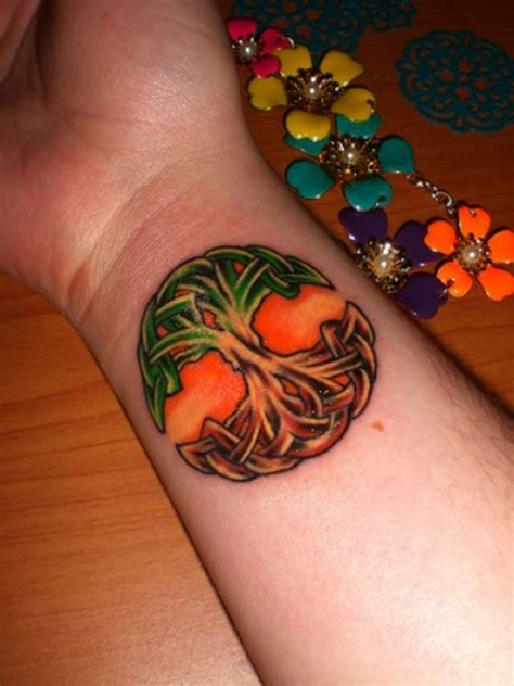 celtic tree of life wrist tattoo 45 colorful tree of tattoos