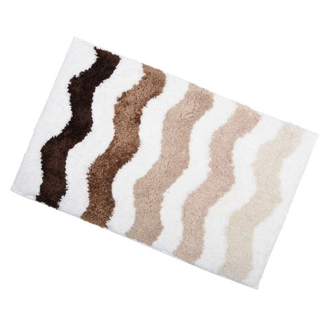 Bathroom Rugs Non Slip Soft Tufted Microfibre Bathroom Shower Bath Mat Rug Non Slip Back 12 Colours