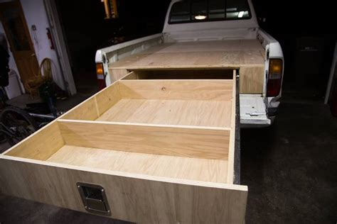 truck bed drawer system learn how to install a sliding truck bed drawer system your projects obn